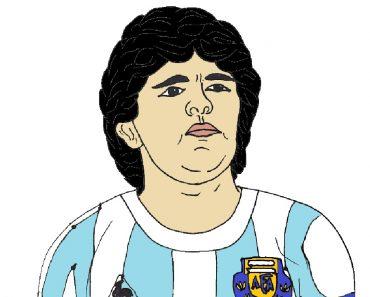 how-to-draw-Diego-Maradona