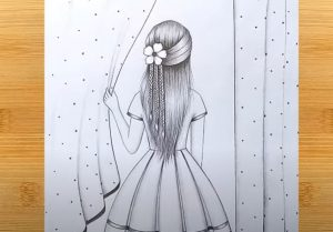 A girl beside the window Drawing - How to draw a girl with beautiful hairstyle