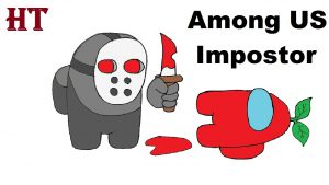 how to draw Among US Impostor