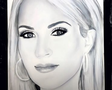 Carrie Underwood Drawing with Pencil