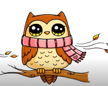 Cute Owl Drawing Easy for kids - How to draw a Owl