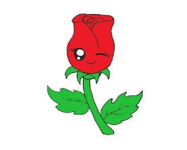Cute Rose Drawing