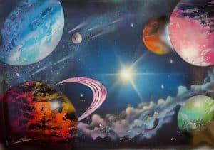 Eternal Galaxy Painting - SPRAY PAINT ART