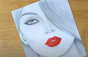 Girl Face Drawing Easy for Beginners - How to draw a Girl Face Step by Step