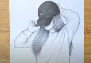 Hidden girl face drawing easy with pencil - How to draw a girl