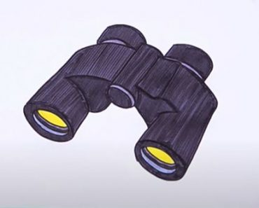 How to Draw Binoculars Step by Step Easy