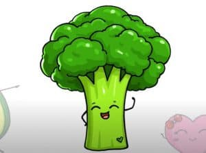 How to Draw Broccoli Easy for Beginners - Vegetable Drawing