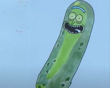 How to Draw Pickle Rick Step by Step