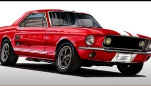 How to Draw a Muscle Car Step by Step - Car Drawing for Beginners