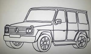 How to Draw a SUV Step by Step - Car Drawing Tutorial