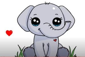 How to Draw an Elephant Cute and Easy