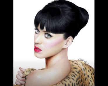 How to draw Katy Perry with Pencil - Beautiful girl Drawing