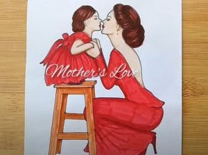 How to draw Mother and daughter love❤️ Easy with Pencil