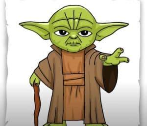 How to draw Yoda Step by Step