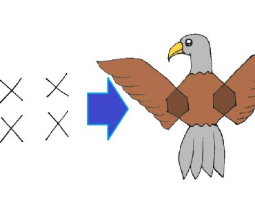How to draw a Eagle with 4 dont X