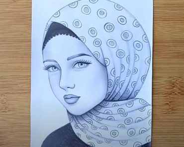 How to draw a Girl with hijab Step by Step - Pencil Drawing Tutorial