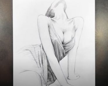 How to draw a Hot Girl Easy for Beginners - Pencil Drawing