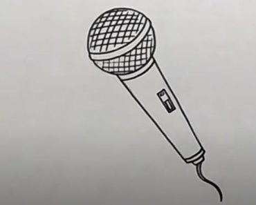 How to draw a Microphone Step by Step - Easy Drawing tutorial
