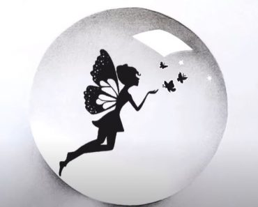 How to draw a fairy inside crystal ball Easy for Beginners
