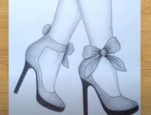 How to draw feet with high heels Easy for Beginners