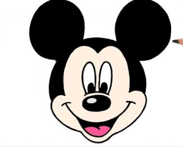 Mickey mouse face Drawing Easy for Beginners