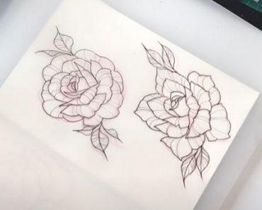 Rose Drawing Tattoo - How to draw a Rose Easy
