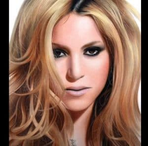 Shakira Drawing with Pencil - How to draw a Beautiful Girl