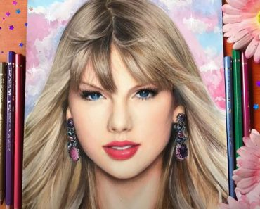 Taylor Swift Drawing with Pencil - How to draw a beautiful girl