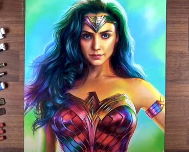 Wonder Woman 1984 Drawing with Pencil