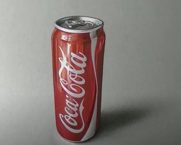 Coca cola Drawing with Pencil - How to draw a Realistic Coca Cola
