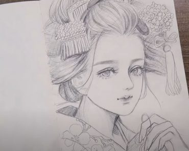 Cute Girl Drawing with Pencil - How to draw a Girl Step by Step