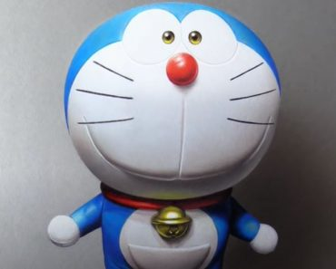 Doraemon 3D Drawing with Pencil - How to draw Doraemon