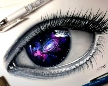 GALAXY EYE Drawing with Pencil - How to draw a eye Step by Step