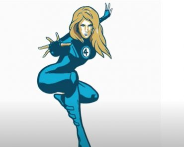 How to Draw Invisible Woman Step by Step