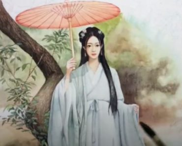 How to Draw Japanese Girl with Umbrella Step by Step