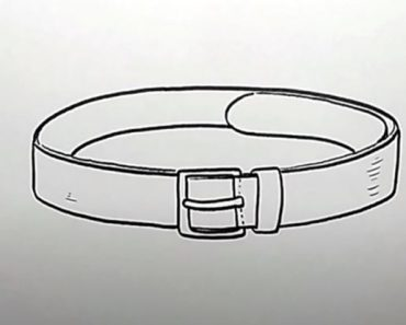 How to Draw a Belt Step by Step