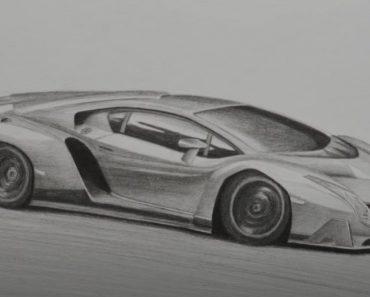 How to Draw a Lamborghini Veneno - Super Car Drawing Tutorial