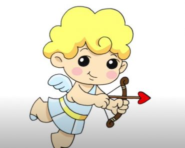 How to draw Cupid Easy Step by Step