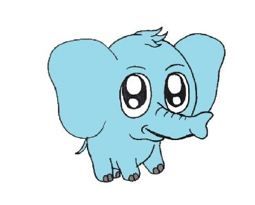 baby elephant drawing cute and easy