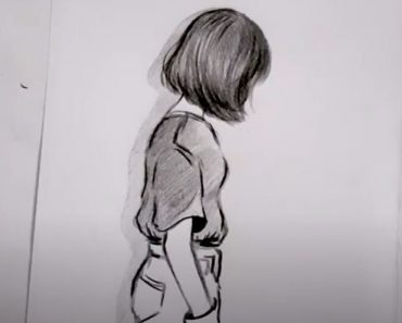 Aesthetic Girl Drawing - How to draw a Girl with short hair