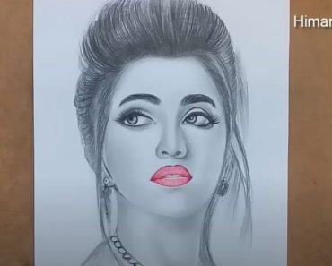 Beautiful Girl Drawing easy Step by Step - How to draw a girl face