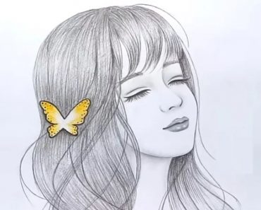 Beautiful girl face sketch drawing - How to draw a Beautiful girl step by step
