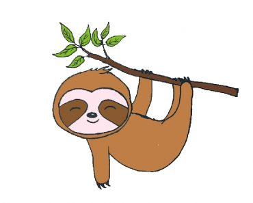 Cute sloth drawing easy for Beginners