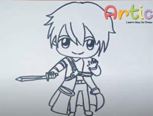 How to Draw Chibi Kirito Step by Step