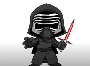 How to Draw Chibi Kylo Ren Step by Step