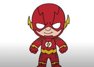 How to Draw Flash Cute and Easy Step by Step