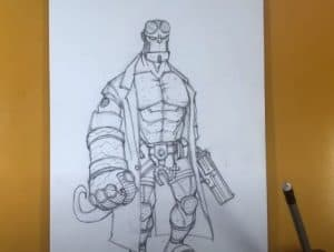 How to Draw Hellboy Step by Step