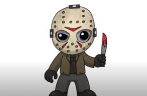 How to Draw Jason Voorhees Step by Step