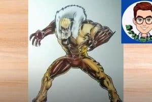 How to Draw Sabretooth Step by Step
