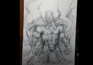 How to Draw Spawn step by step